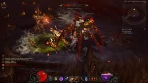 Diablo 3 - Komplettlösung : Die Spinnenkönigin Cydaea und ihre Jungspinnen-Brut.
