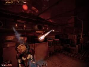 Mass Effect 2 : Die Raketenschützen oben können Sie nur im Fernkampf erreichen.