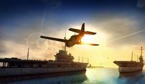 Mit Combat Wings: The Great Battles of WWII geht es unter anderem in den Pazifik.