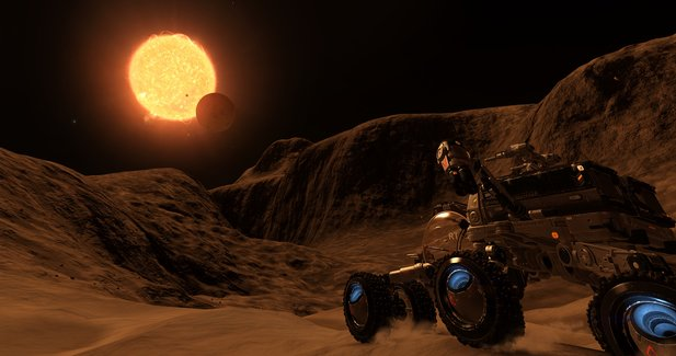 Elite: Dangerous wird mit dem Horizons-Addon um das SRV (Surface Recon Vehicle) erweitert. Im Steam zeigten die Entwickler das Fahrzeug in Aktion.