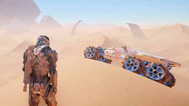 Mass Effect: Andromeda - Gameplay-Video zeigt Erkundung auf Planeten mit Nomad