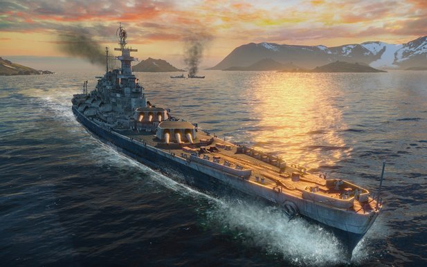 In der Mittagspause die Tirpitz versenken - im Actionspiel World of Warships ist das kein Problem.