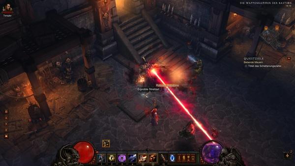 Diablo 3 - Komplettlösung : Schattenungeziefer in der Waffenkammer der Bastion.