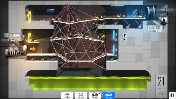 Screenshot zu Bridge Constructor Portal - Screenshots