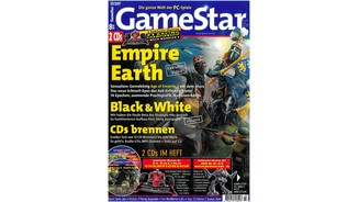<b>GameStar 3/2001</b><br>Empire Earth-Titelstory über Die Formationen und Epochen mit Rick Goodman-Interview. Außerdem: Black & White-, Gothic-, Morrorwind-, Wiggles-, Die Völker 2- und Unreal Warfare-Engine Previews. Im Test: Mech Warrior 4, Fly 2k, The Fog, Worms World Party, Die Siedler: Hiebe für Diebe und Virtual Pool 3.