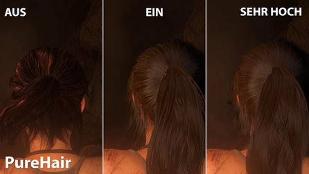 Rise of the Tomb Raider - PureHair-Vergleich