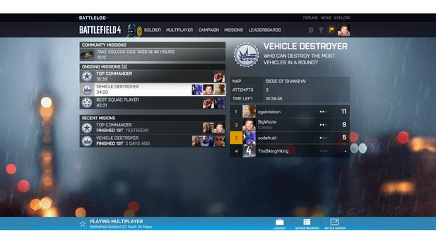 Battlefield 4 - Screenshots zum neuen Battlelog