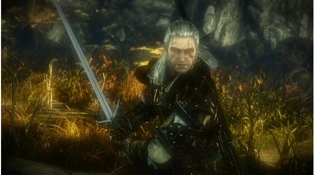 <b>The Witcher 2: Assassins of Kings</b><br/>Geralt von Riva, der grauhaarige Monsterjäger, Weiberheld und Schwertschwinger ist wieder da ...