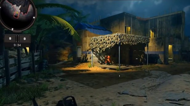 This is how the Fire Range Night should appear in Black Ops 4. Source: NerosCinema