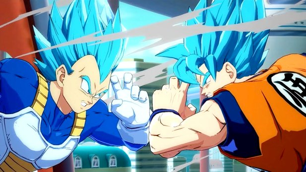 Son Goku und Vegeta in Dragon Ball FighterZ.