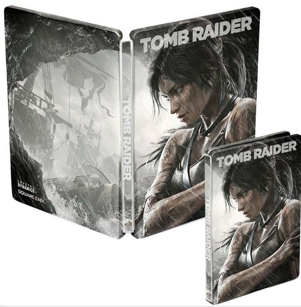 Die Steelbook-Version von Tomb Raider.