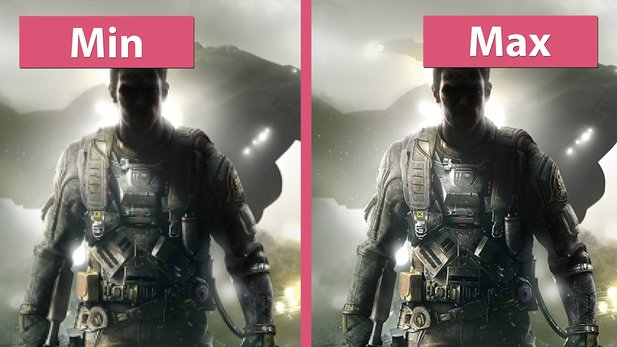 Call of Duty: Infinite Warfare - Minimale und maximale Details im Grafik-Vergleich