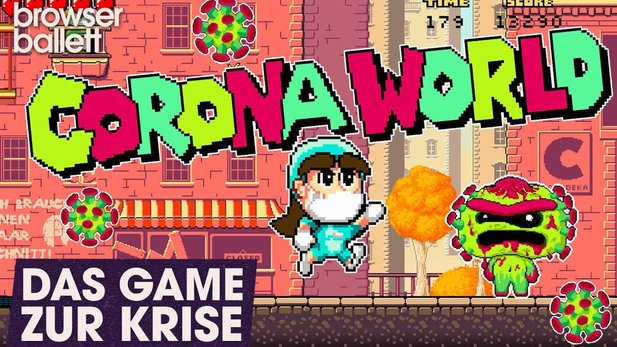 In Corona World you fight as a nurse against the virus.