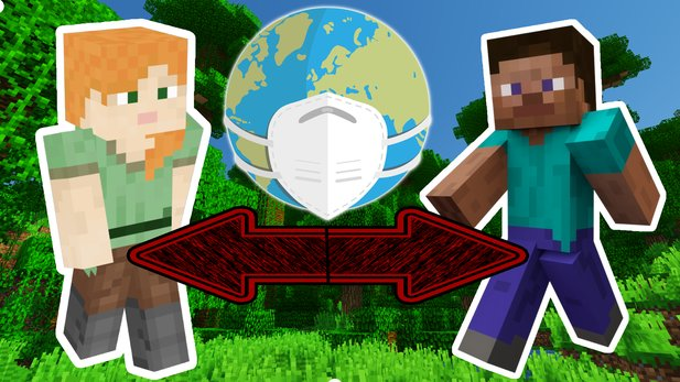 A map in Minecraft wants to help the corona pandemic keep its distance from other people.