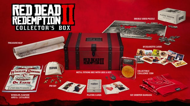 Die Collector's Box von Red Dead Redemption 2.