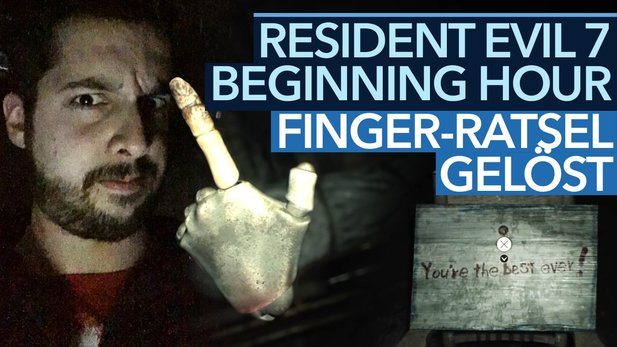Resident Evil 7: Beginning Hour - Video-Guide: So löst man das Finger-Rätsel!