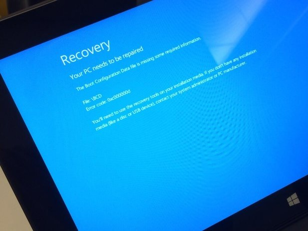 Der Windows RT 8.1 Bluescreen auf einem Surface RT (Bildquelle: Lance Ulanoff)