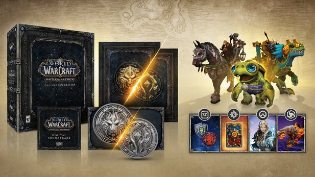Die Collector''s Edition von World of Warcraft: Battle for Azeroth.