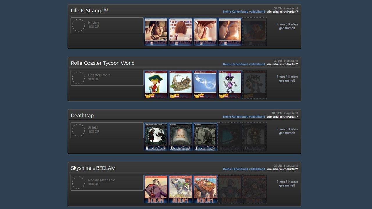 Steam Karte 20.Steam Guide So Funktionieren Sammelkarten Edelsteine Und Booster