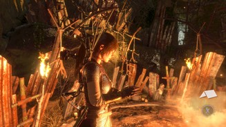 <b>Rise of the Tomb Raider: Baba Yaga: The Temple of the Witch </b><br>Überall in den Höhlen finden wir Totems der Hexe.