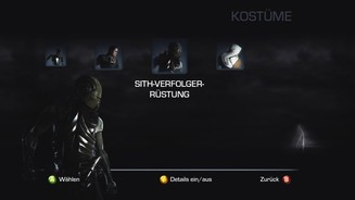 Star Wars: The Force Unleashed 2Freispielbares Outfit: Sith-Verfolger-Rüstung