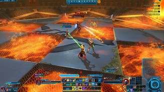<b>Star Wars The Old Republic - Shadow of Revan</b><br>Shae Vizla heizt uns im Duell ordentlich ein.