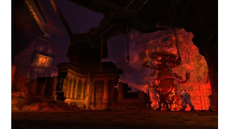 World of Warcraft: CataclysmFetter Raid-Boss: Magmaul im Pechschwingenabstieg.