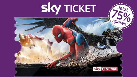 2 Monate Sky Cinema Ticket für einmalig 7,99 Euro - Spider-Man: Homecoming und weitere Blockbuster