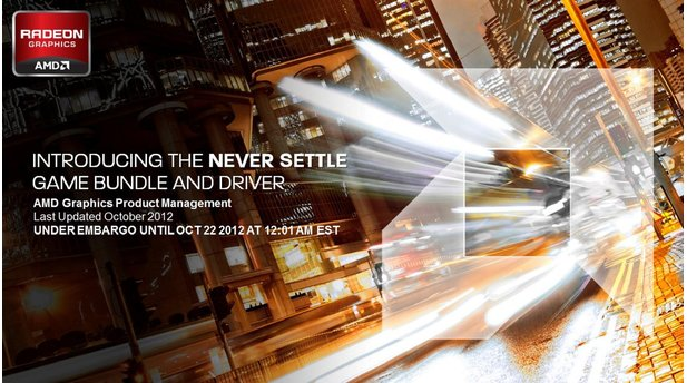 AMD Never Settle Driver Präsentation
