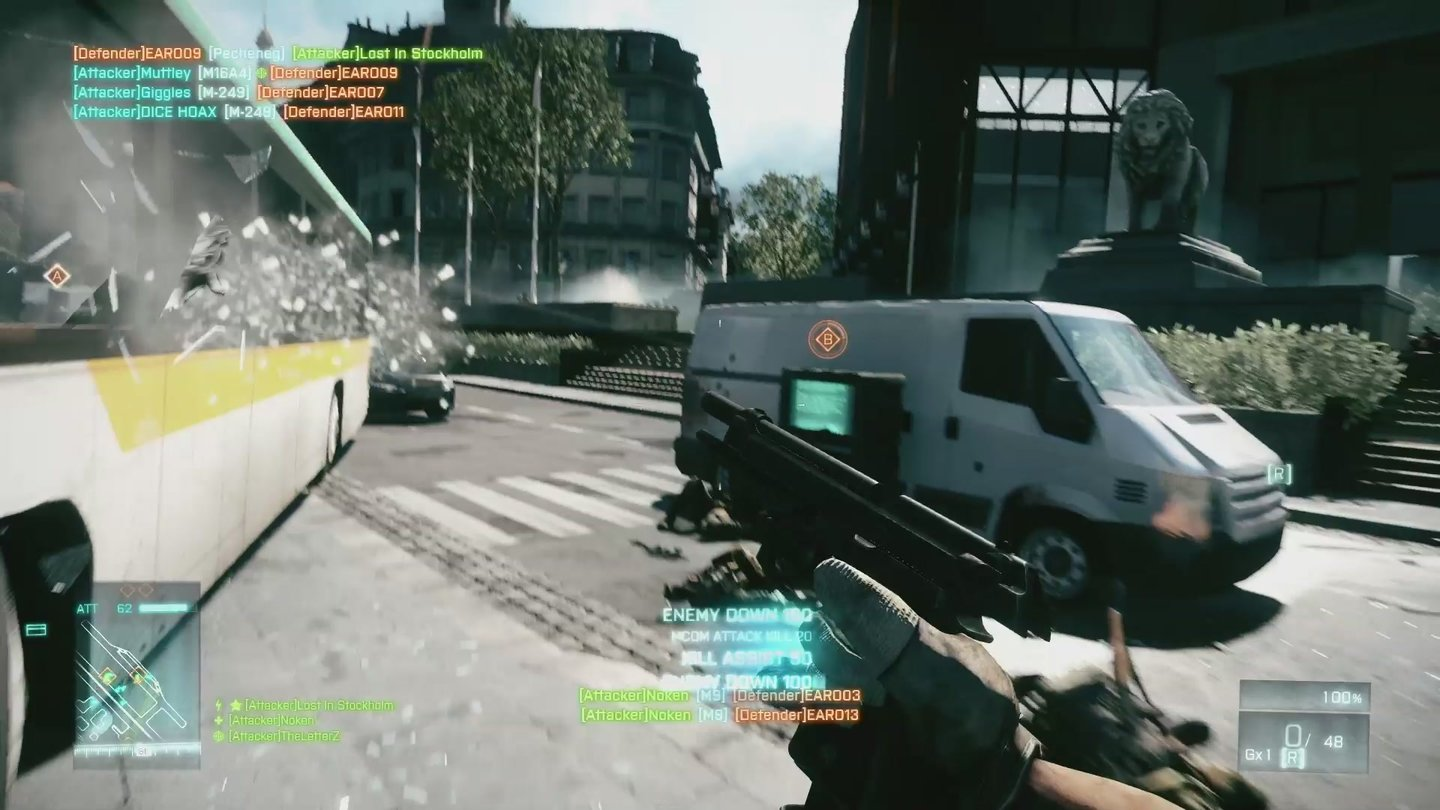Battlefield 3 - Screenshots von der Mehrspieler-Karte Operation Metro (Quelle: E3-Trailer)