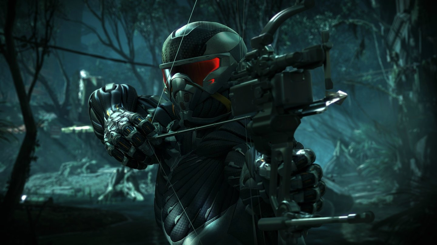 Crysis 3Prophets neue Waffe der »Composite Compound Bow« , ein High-Tech-Bogen – ideal für lautlose Kills.