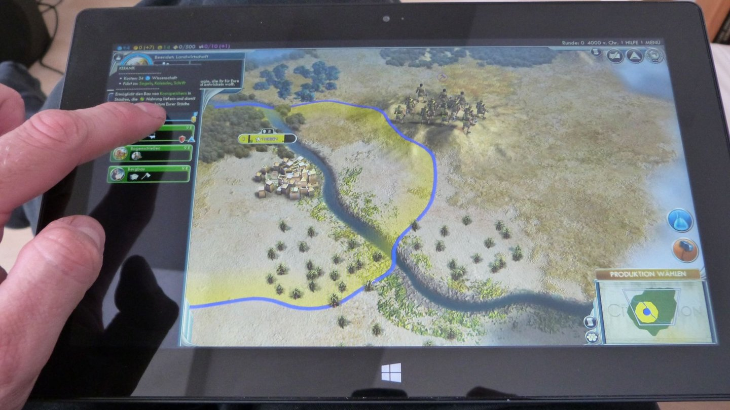 Surface Pro - Civilization V Touch