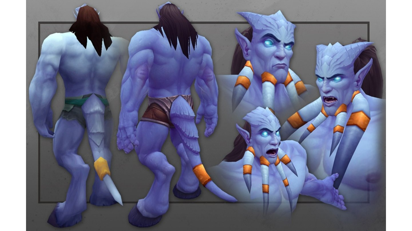 World of Warcraft: Warlords of Draenor Neues Charaktermodell der männlichen Draenei