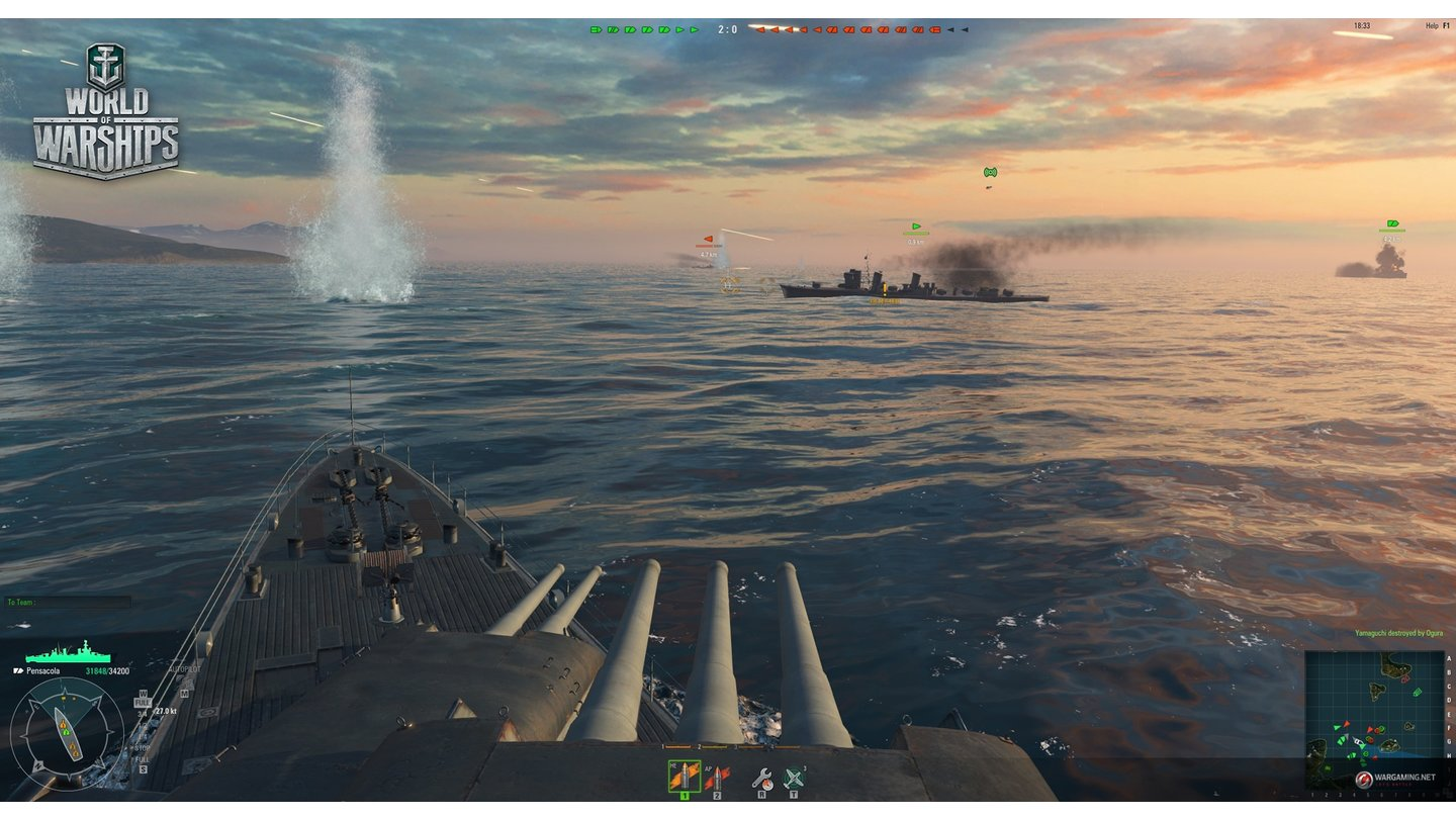 World of WarshipsScreenshots aus der Closed-Beta