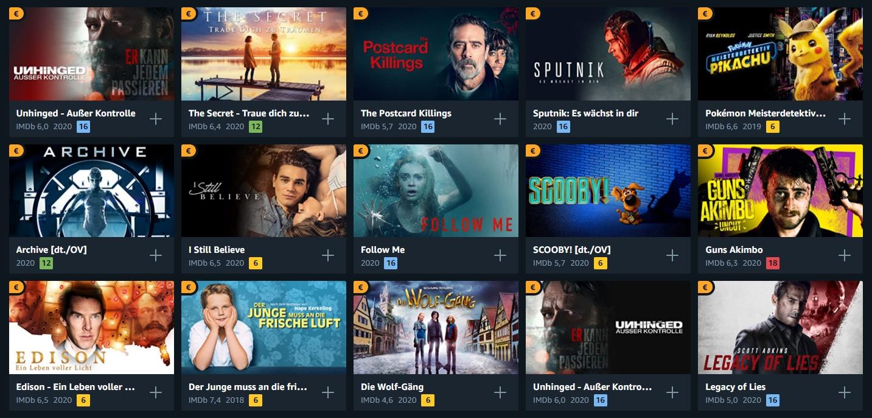 Amazon Prime Filme 2021