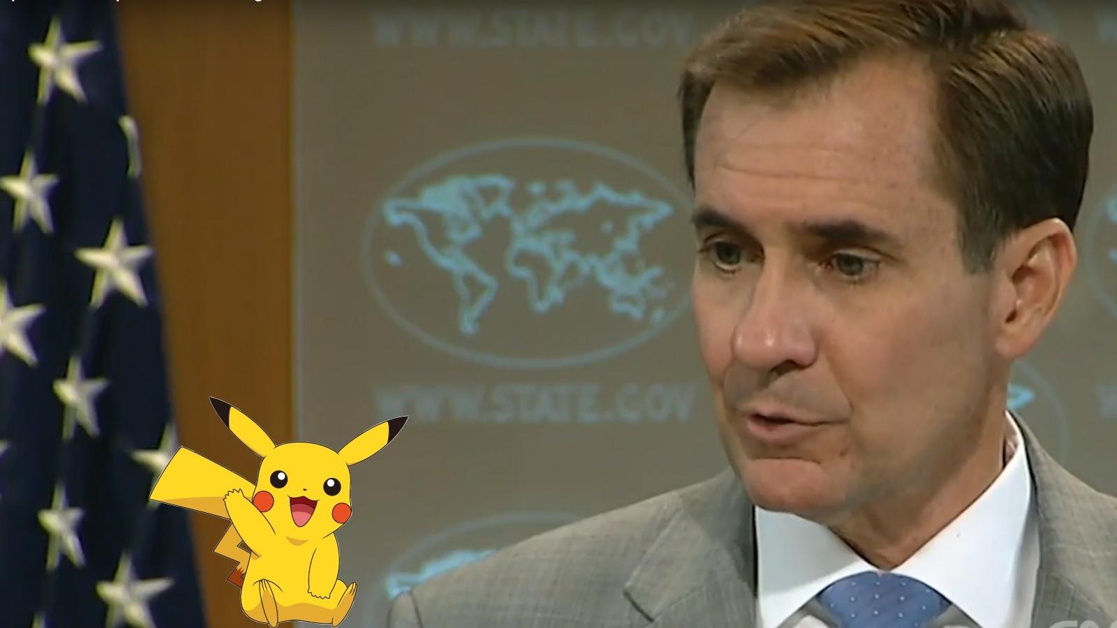 Pokémon Go - Spielender Reporter nervt Regierungssprecher