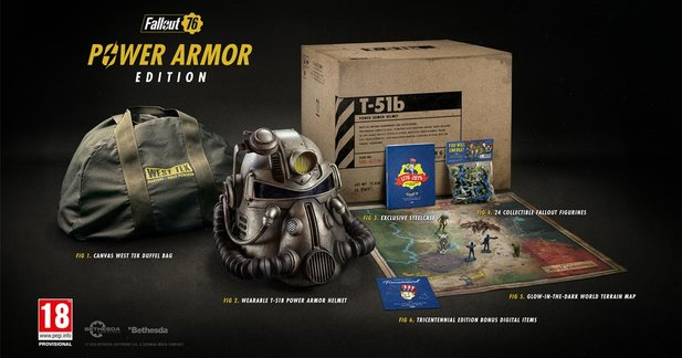 Die Collector's Edition von Fallout 76.