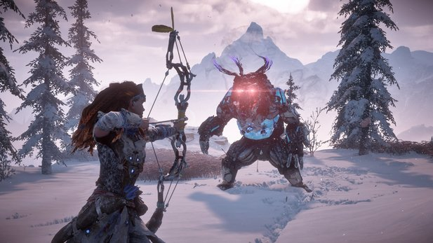 Horizon Zero Dawn: The Frozen Wilds bietet neue Herausforderungen.