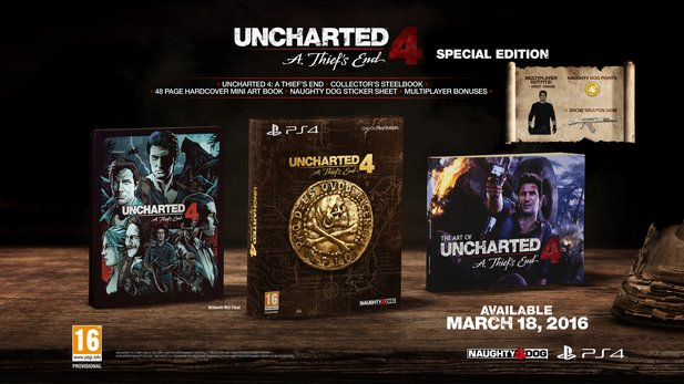 Uncharted 4 in der Special Edition.