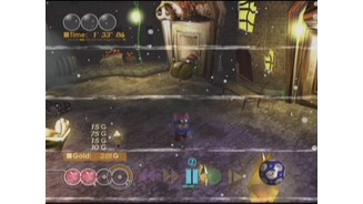 One hit and Blinx dies. When this happens, a Continue is used and the game rewinds to just prior to the deadly touch.