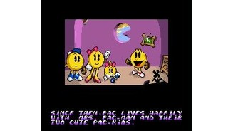 Introduction frame ? Before starting the adventure, Pac-Man meets his family.